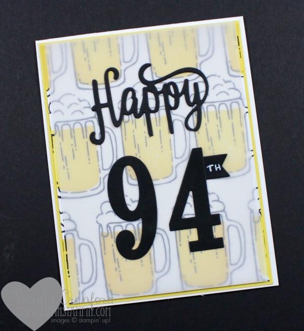 Beer mug masculine birthday card Wendy Cranford www.luvinstampin.com