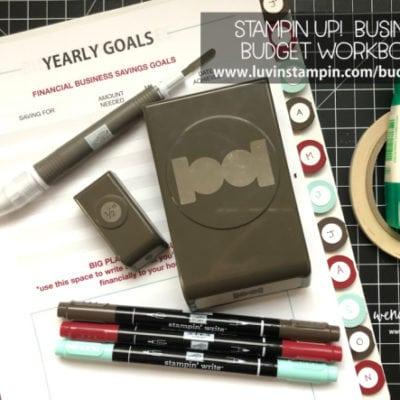 Stampin' UP! Business Budget Workbook Tool